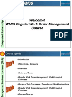WM06 Regular Work Order Management Presentation