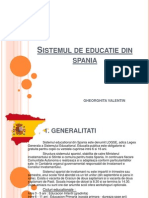 1Sistemul de Educatie Din Spania