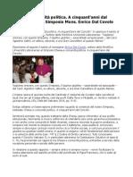 Mons Dal Covolo Chiesa e Comunità Politica a Cinquant Anni Dal Concilio
