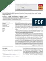 1.Caracterizarea Particulelor de Uzură Generate Din Aliaj CoCrMo Sub Alunecare