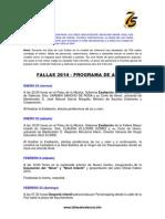 Programa de Fiestas en Español 2014