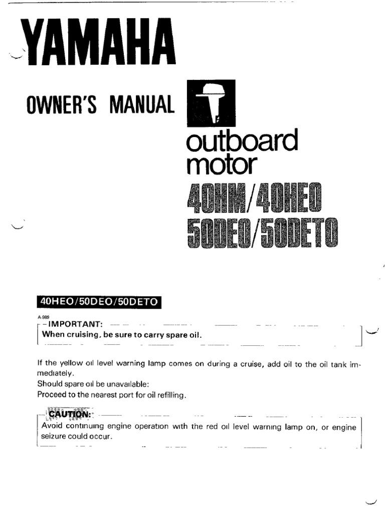 yamaha owners manual 40 50 hp throttle. Black Bedroom Furniture Sets. Home Design Ideas
