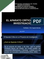 El Aparato Crítico en La Investigacion