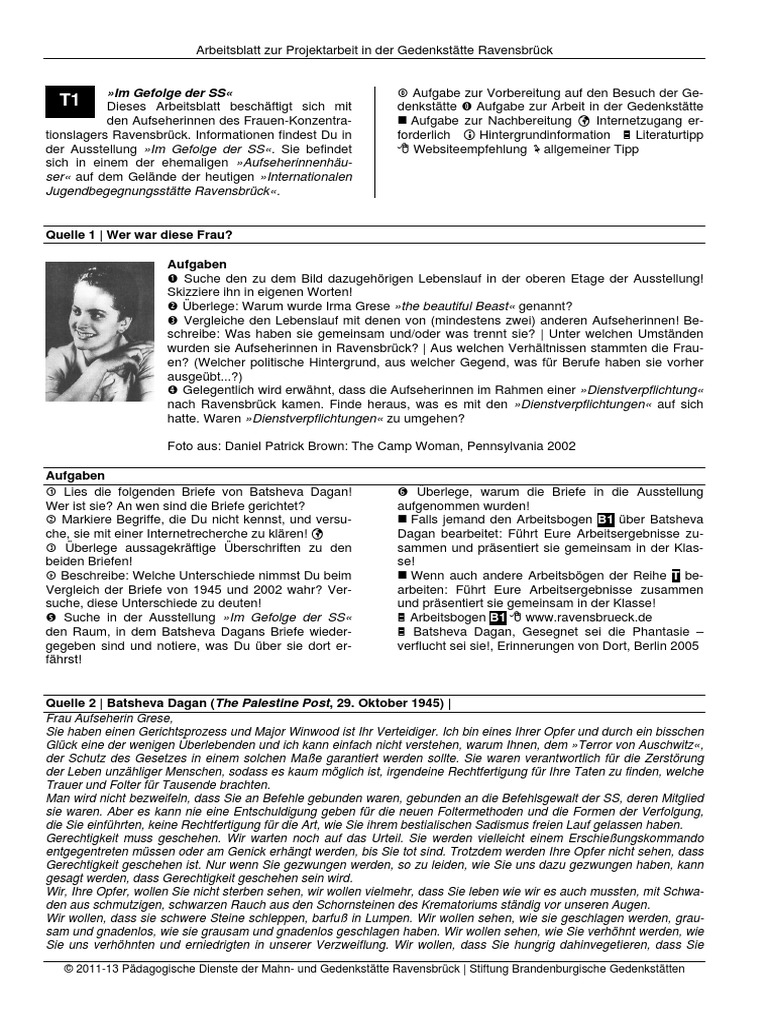 Strahlenfolter Stalking - TI - Gedenkstätte Ravensbrück ...