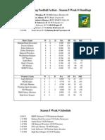 Season 5 Week 8 Results and Standings