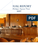 Annual Report of the Michigan Supreme Court 2007