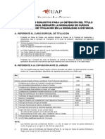 Requisitos Detallados Para Titulo Por Curso de Titulación Nacional
