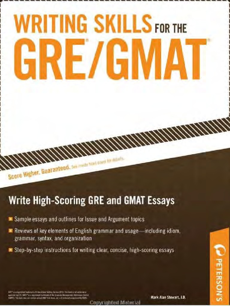 Writing skills for the GRE and GMAT tests