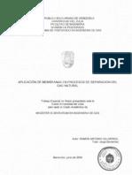 Aplicación de Membranas en Procesos de Separación Del Gas Natural