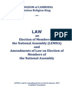 Law on the Election of the Members of National Assembly 2013 (English)