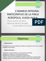 Plan de Manejo Integral Participativo de La Finca (1)