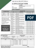 Grading Form - KYU