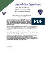 Press Release Death Investigation Update 6 9 14