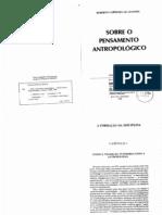 Oliveira Roberto Cardoso Sobre o Pensamento Antropolc3b3gico Cap 1 a Formac3a7c3a3o Da Disciplina Tempo e Tradic3a7c3a3o Interpretando a Antropologia