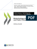 Biotechnology Indicators and Public Policy