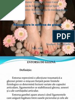 unghiile entorsă articulară