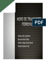 Modo de Transporte Ferroviario