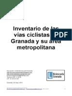 Inventario de vías ciclistas en Granada y su área metropolitana