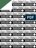 Etiquetas de preço Modelo A4