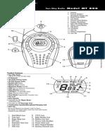 Cobra MT800 Manual