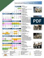 2014-2015 instructional calender