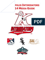 Kannapolis Intimidators 2014 Media Guide