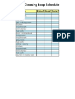 Deep Cleaning Loop Schedule