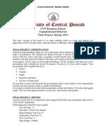 Term Project Organizational Behavior