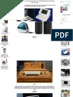 Resumen Modelos Icónicos de Los Ordenadores de Apple