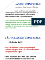 Aula Sobre v-lvulas de Controle