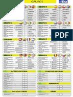 Cartilla Mundial Futbol Brasil 2014