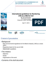 ISO TC67 WG10 - International Guidelines for Bunkering LNG as a Marine Fuel
