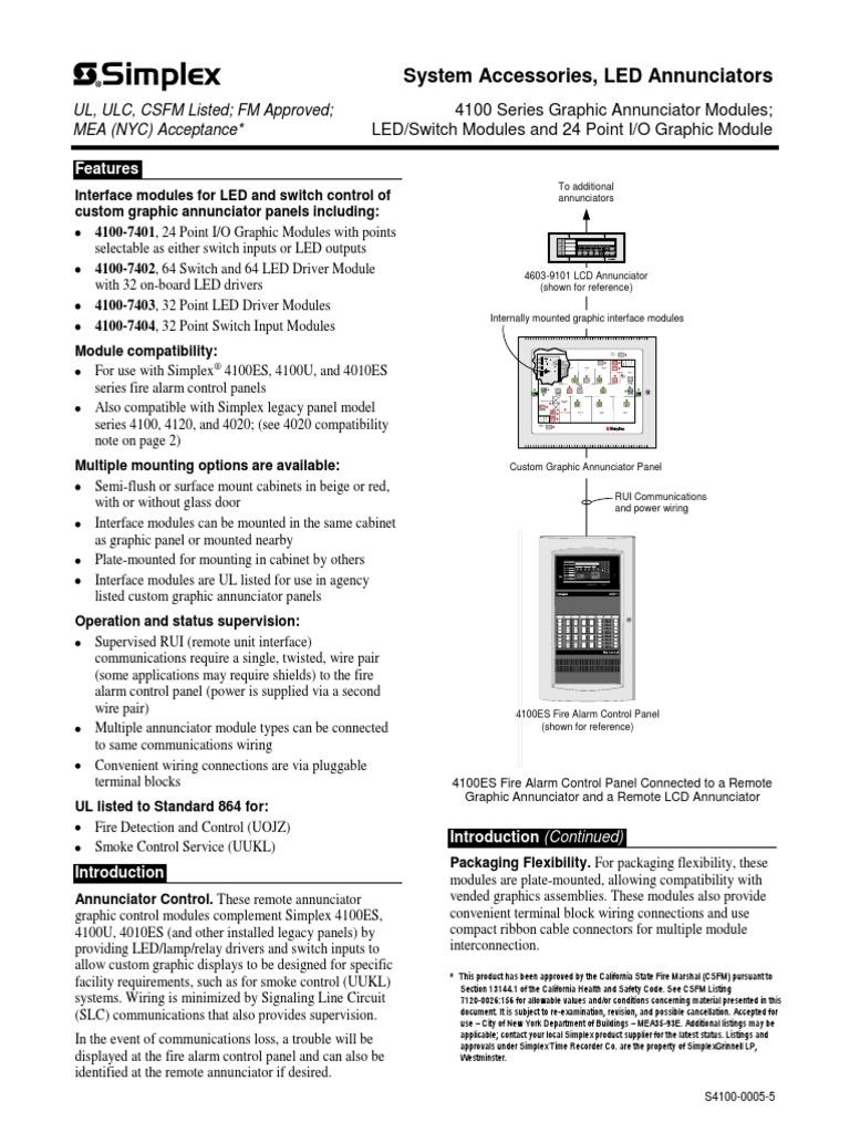 simplex 4100 0005 relay switch rh scribd com Simplex 4002 Fire Panel Simplex Control Zam