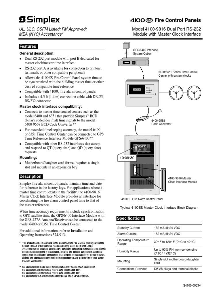 simplex 4100 0033 electrical connector electrical engineering rh scribd com
