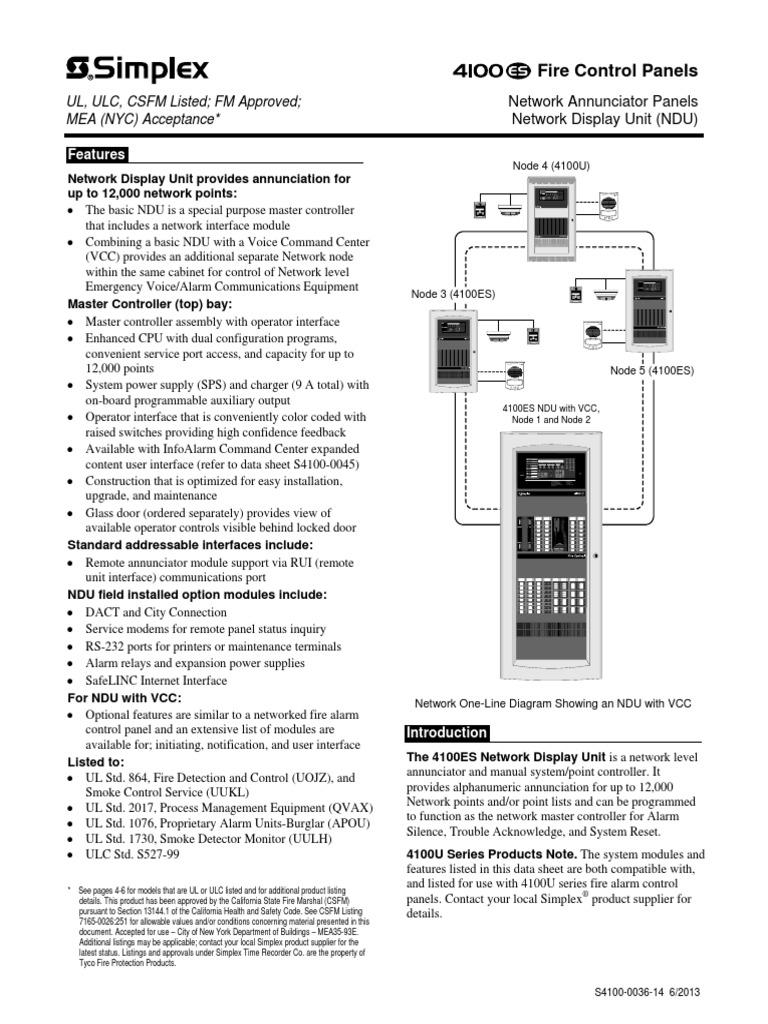 simplex 4100 0036 amplifier battery charger rh scribd com Annunciator Simplex 4002 Simplex 4100 Fire Alarm Control