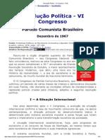 Resolução Política - VI Congresso - PCB