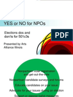 Yes or No for NPOs - Arts Alliance Illinois (June 2014)