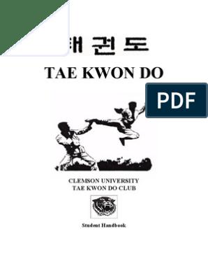 Martial Arts- Taekwondo- Student Handbook   Taekwondo