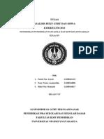 Analisis Buku Siswa Kelas IV Kurikulum 2013 (1)
