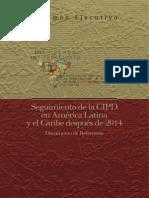Doc Resumen Ejecutivo Seguimiento CIPD 2014