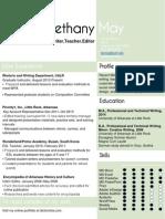 Resume Summer 2014