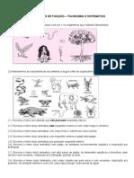 Taxonomia e Classificação