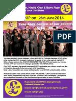 Colindale UKIP June 2014 Leaflet