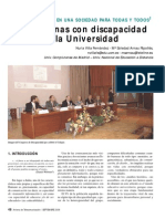 Discapacidad en La Universidad