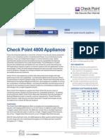 4800 Appliance Datasheet