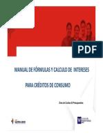 Manual Formulas y Calculos Interes Credito de Consumo