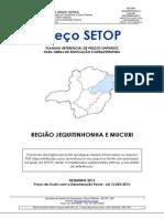 Preço de Custo Com a Desoneração Fiscal Jequitinhonha - DeZEMBRO-2013