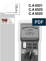 Manuel CA6523 mégohmmètre