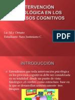 Intervención Psicológica en Los Procesos Cognitivos