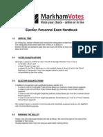Election Personnel Exam Handbook